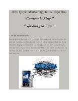 10 Bí Quyết Marketing Online Hiệu Quả docx