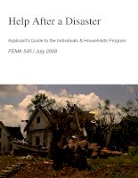 Help After a Disaster Applicant's Guide to the Individuals & Households Program pdf