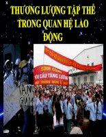 THƯƠNG LƯỢNG TẬP THỂ TRONG QUAN HỆ LAO ĐỘNG doc