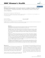 Delayed presentation in breast cancer: a study in Iranian women docx
