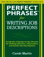 Perfect Phrases for Writing Job Descriptions pot
