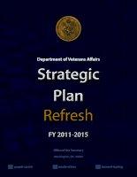 DEPARTMENT OF VETERANS AFFAIRS STRATEGIC PLAN REFRESH FY 2011-2015 potx
