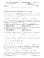 Đề thi thử đại học môn vật lý chuyên hà tĩnh có lời giải chi tiết Lần 3