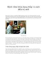 Bệnh viêm khớp dạng thấp và cách điều trị mới potx