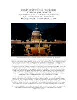 EDWIN LUTYENS AND NEW DELHI - AN IDEAL GARDEN CITY ppt