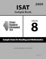 ISAT Sample Book 8: Sample Items for Reading and Mathematics 2009 ppt