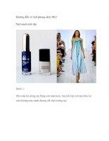 Hướng dẫn vẽ nail phong cách 2012 Nail xanh mát dịu pot