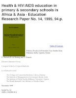 Health & HIV/AIDS education in primary & secondary schools in Africa & Asia - Education pot