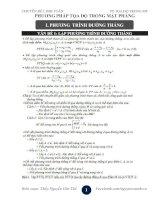 Chuyên đề 5 - LTĐH Toán Phần tọa độ trong mặt phẳng  - biên soạn theo chương trình chuẩn
