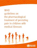 WHO guidelines on the pharmacological treatment of persisting pain in children with medical illnesses docx