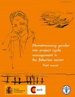 Mainstreaming gender into project cycle management in the fisheries sector pdf