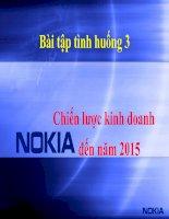 Chiến lược kinh doanh  Nokia  đến năm 2015