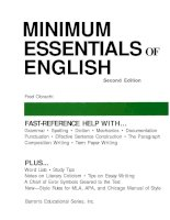 MINIMUM ESSENTIALS ENGLISH Second Edition