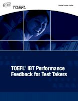 TOEFL ® iBT Performance Feedback for Test Takers ppt