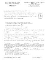 Đề thi thử vật lý chuyên nguyễn huệ lần 3 2012