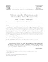 Uniform prices for differentiated goods: The case of the movie-theater industry pptx