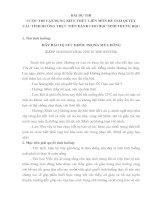 BÀI DỰ THI VẬN DỤNG KIẾN THỨC LIÊN MÔN ĐỂ GIẢI QUYẾTCÁC TÌNH HUỐNG THỰC TIỄN DÀNH CHO HỌC SINH TRUNG HỌC