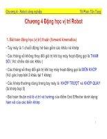 bài giảng động học vị trí robot - ts. phan tấn tùng
