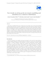 New trends on urban goods movement: modelling and simulation of e-commerce distribution docx