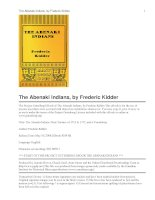 The Abenaki Indians Their Treaties of 1713 & 1717, and a Vocabulary ppt