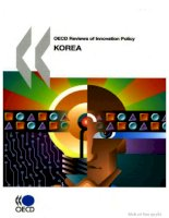 oecd reviews of innovation policy oecd reviews of innovation policy korea 2009 pptx