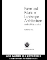 Form and Fabric in Landscape Architecture A visual introduction pot