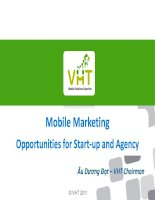 Mobile marketing - Opportunities for Start-up and Agency