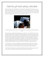 Cách làm gối thuốc phòng, chữa bệnh pot