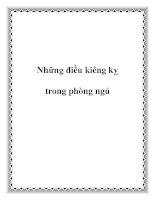 Những điều kiêng kỵ trong phòng ngủ pdf