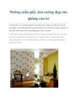 Những mẫu giấy dán tường đẹp cho phòng của bé pdf
