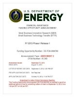FINANCIAL ASSISTANCE FUNDING OPPORTUNITY ANNOUNCEMENT - Small Business Innovation Research (SBIR) pdf