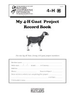 My 4-H Goat Project Record Book ppt
