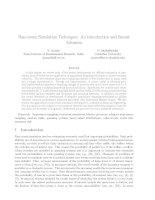 Rare-event Simulation Techniques: An Introduction and Recent Advances docx