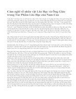 Cảm nghĩ về nhân vật Lão Hạc và Ông Giáo trong Tác Phẩm Lão Hạc của Nam Cao