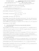 đề thi thử môn toán khối a,b tỉnh nghệ an năm 2014