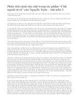 """Phân tích cảnh cho chữ trong tác phẩm """"Chữ người tử tù"""" của Nguyễn Tuân – bài mẫu 3"""