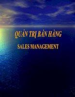 Mẫu slide powerpoint bài giảng Quản trị bán hàng - Sales Management