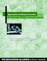 Approaches to Writing Instruction for Adolescent English Language Learners pot