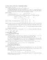 Đề Thi Thử Đại Học Khối A, A1, B, D Toán 2013 - Phần 26 - Đề 21 potx