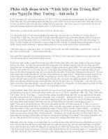 """Phân tích đoạn trích """"Vĩnh biệt Cửu Trùng Đài"""" của Nguyễn Huy Tưởng – bài mẫu 3"""