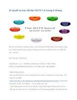 Bí quyết tự học để đạt IELTS 7.0 trong 6 tháng doc