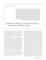 Justification Effects on Consumer Choice of Hedonic and Utilitarian Goods pdf