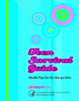 Teen Survival Guide Health Tips for On-the-go Girls potx