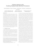 Putting Lipstick on Pig: Enabling Database-style Workflow Provenance docx