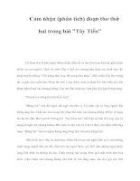 Cảm nhận (phân tích) đoạn thơ thứ hai trong bài