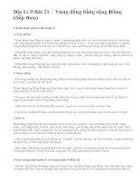 Địa Lí 9 Bài 21 – Vùng đồng bằng sông Hồng (tiếp theo)