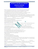 Đề thi thử đại học môn vật lí năm 2011 Khóa thầy Đặng Việt Hùng lần 7 phần 1