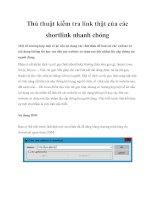 Thủ thuật kiểm tra link thật của các shortlink nhanh chóng pot