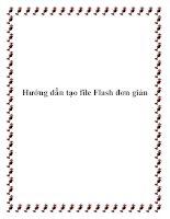 Hướng dẫn tạo file Flash đơn giản docx
