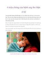 4 triệu chứng của bệnh ung thư thận ở trẻ pdf